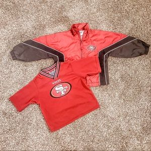 Toddlers 49ers Jersey & Windbreaker